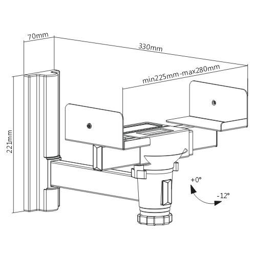 Universal Heavy-duty Clamping Speaker Wall Mount
