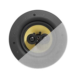 """6.5"""" Dual Tweeter Classic Frameless Woven Glass Fiber Stereo Ceiling Speaker"""