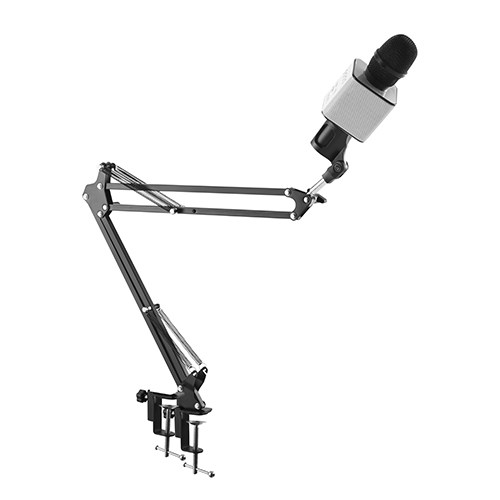 Table-top Microphone Suspension Boom Scissor Arm Stand with Mic Holder