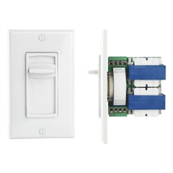 100W Flush In-Wall Speaker Volume Control Decorative Plate with Switchable Style Adjustment