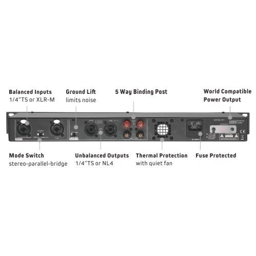 Class D 300-Watt Studio Audio Amplifier