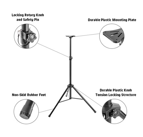 Classic PA Speaker Tripod Stand with Plastic Base