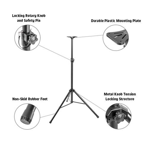Classic PA Speaker Tripod Stand with Steel Base