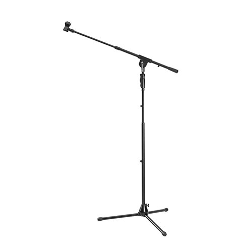 Heavy-Duty Telescopic Boom Microphone Tripod Stand with Hand Clutch