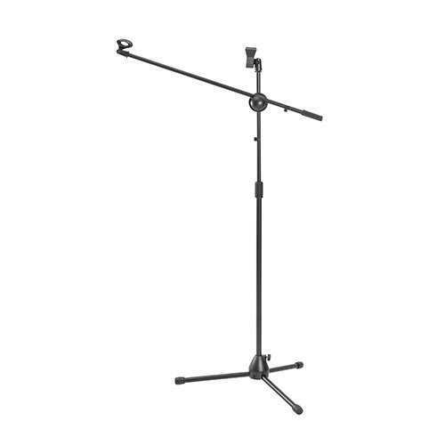 Classic 360° Rotatable Boom Microphone Tripod Stand with 2 Mic Clip Holders