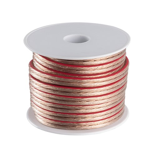 Transparent 16AWG Gauge 2-Conductor Speaker Wire (100M/328 Feet)