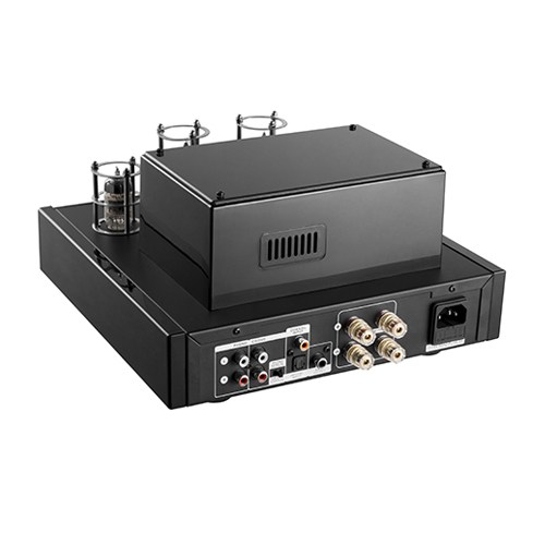 Class AB Advanced Bluetooth Tube Amplifier with Coaxial/Optical Inputs and Bass Output