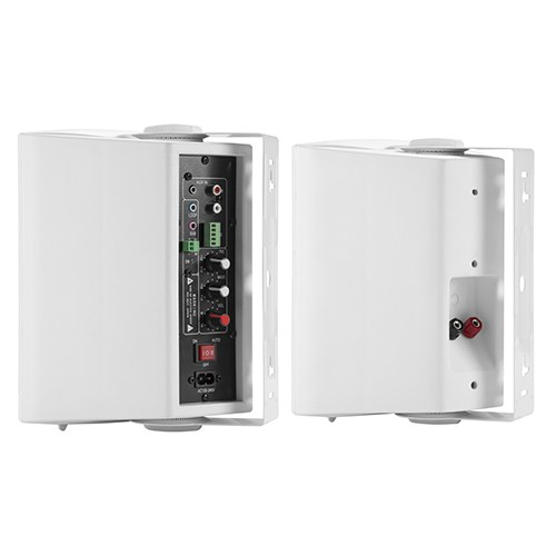 Powered Indoor Wall Speaker Pair Set
