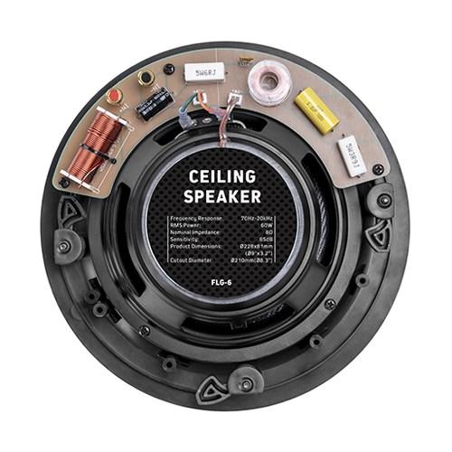 """6.5"""" Pivoting Tweeter Affordable Ceiling Speaker"""