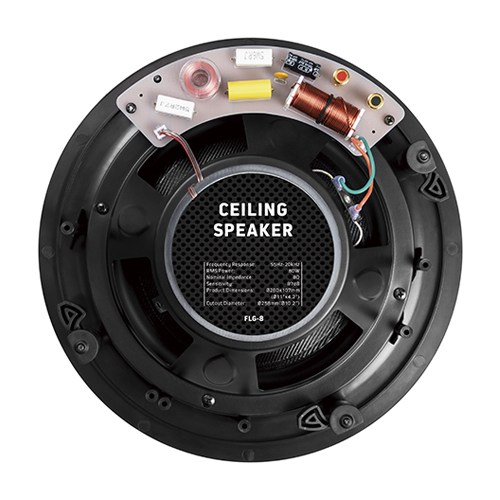 """8"""" Pivoting Tweeter Affordable Ceiling Speaker"""