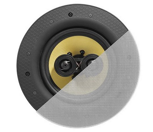 6.5'' Dual Tweeter Classic Frameless Kevlar Type Stereo Ceiling Speaker